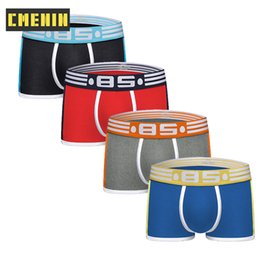slips boxer NZ - 4Pcs Brand Boxer Men Underwear Cueca Male Panties Sexy Breathable Boxers Cotton Slip Underpants Cuecas boxershorts Men Lingerie CX200622
