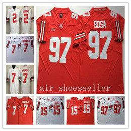 4f19d75b3 NCAA Mens Ohio State Buckeyes College jerseys 2 JK Dobbins 7 HASKINS JR 15  Ezekiel Elliott 97 Joey Bosa Football Men Jerseys