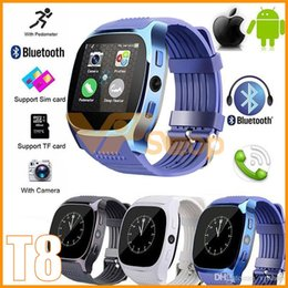 $enCountryForm.capitalKeyWord Australia - T8 Bluetooth Smart Watch Wristband Bracelet Sport Watch for IOS Android Pedometer SIM TF Card With Camera PK DZ09 U8 Q18 ID115