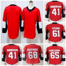 $enCountryForm.capitalKeyWord Australia - Cheap 2018 New Brand Mens Ottawa Senators 41 Anderson 61 Stone 65 Karlsson 68 Hoffman Blank Red Full Stitched Logos Ice Hockey Jerseys