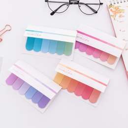 Chinese  Colorful Cute Kawaii Creative Memo Pad Sticky Notes Memo Notebook Stationery Index Note Paper Stickers School Supplies Btx Tools manufacturers