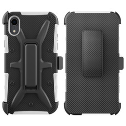 Iphone Case Clip Combo Australia - For Iphone 6S 6 7 8 Plus X XS MAX XR VH Combo Belt Clip Kickstand Holster Shockproof Protective Phone Cover Case