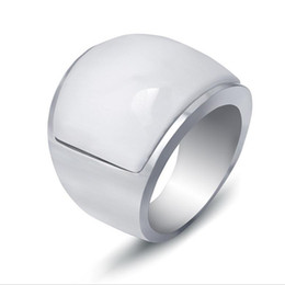 $enCountryForm.capitalKeyWord Australia - 18K Gold Plated Mens Rings Stainless Steel Rings Jewelry Fashion Grade Qualtiy High Polished Titanium Steel Geometric Opal Cluster Rings