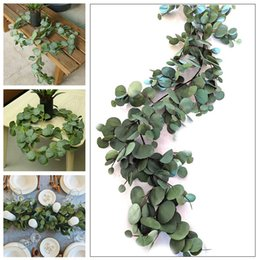 Decoration livingroom online shopping - Artificial InsRattan Festive Wedding Decoration Romantic M Simulated Eucalyptus Fashion Greenery Artificial Plant Livingroom
