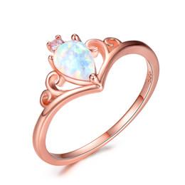 pretty nice 3c52b 930fc Luckyshine Color Mix 5 Unids   lote Venta al por mayor nuevo blanco azul  púrpura ópalo de fuego de piedras preciosas 925 anillo de plata mujeres  bodas ...