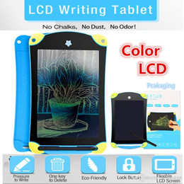 $enCountryForm.capitalKeyWord Australia - Color LCD Writing Tablet Digital Portable 8.5 Inch Drawing Tablet Handwriting Pads Electronic Tablet Board for Adults Kids Children