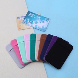 $enCountryForm.capitalKeyWord Australia - New Mobile Phone Credit Card Wallet Holder Pocket Stick-on Adhesive Elastic Tool For Men Women