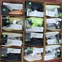 $enCountryForm.capitalKeyWord Australia - With Stock X Box Kanye West V2 BLACK STATIC REFLECTIVE Mens 3M Static Running Shoes Womens Casual Outdoor Desiger Sports Trainers Size5-12.5