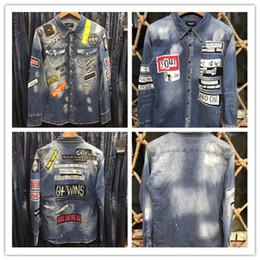 gute Qualität. Männer Jeansjacke Modedesigner Jacke Marke schlank Motorrad lässig Männer und Frauen Denim Mantel Hip Hop Retro Wind Denim