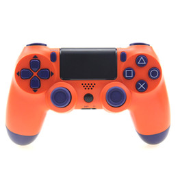 Wireless Controller Battery Australia - 2019 New Best Six-Axis For PS4 Gamepad ps4 wireless Bluetooth game controller ps4 Bluetooth 4.0 Lights Bar Polymer battery
