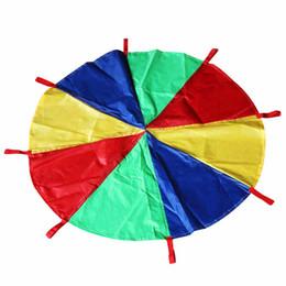 2m Kid Children Play Rainbow Umbrella Parachute Outdoor Teamwork Game Jump-sack Ballut Play Parachute Development Toy 8 Bracelet Numerous In Variety Home
