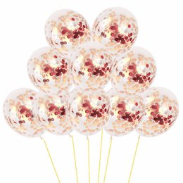 $enCountryForm.capitalKeyWord Australia - MAGGIEISAMAZING Wholesa Latex Sequins Filled Clear Balloons Novelty Kids Toys Natural latex balloon Wedding Decorations Party Hot Dance