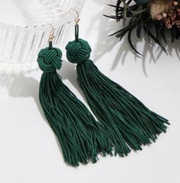 Ethnic fringEs jEwElry online shopping - Vintage Ethnic Long Tassel Drop Earrings for Women Lady Fashion Bohemian Statement Fringe Dangle Women Earring Jewelry