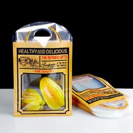 $enCountryForm.capitalKeyWord Australia - Vintage Plastic Window Gift Bag with Handle Fruit Food Bread Candy Bag Cake Bakery Universal Packaging Bags ZC0541