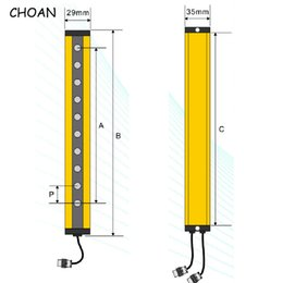 infrared photoelectric sensor Australia - CHOAN GM2012T 12 beams 20MM Dangerous Machine Photoelectric Protector relay output Safety light Curtain switch Infrared Grating Area Sensor