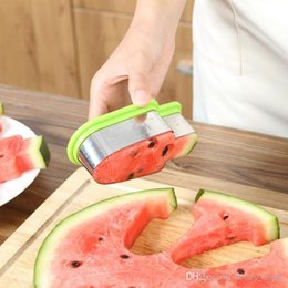Melon slicer online shopping - 1PC Creative Watermelon Slicer Ice Cream Mold Vegetable Cutting Tool Kitchen Accessories Stainless Steel Popsicle Simple Form