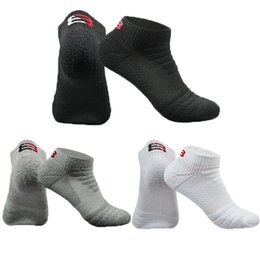 Badminton Towel Australia - Men Outdoor Sport Socks Towel Bottom Professional Football Basketball Cycling Running badminton Ankle Sock Low Cut Socks