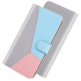 hybrid flip leather case iphone UK - Leather Wallet Case For Samsung S20 Ultra Plus A01 A21 A51 A71 A81 A91 A70E Hit Contrast Color Hybrid ID Card Slot Holder Purse Flip Cover