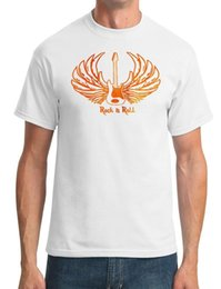 Black s guitar online shopping - Rock N Roll Guitar Wings Music Mens T Shirt