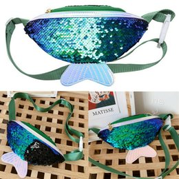 packs sun glasses UK - Women Girls Waist BAGS Sequined Fanny Pack Belt Bag Travel Hip Bum Bag Small Purse Chest Pouch Kids