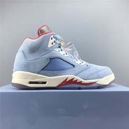 $enCountryForm.capitalKeyWord Australia - New Trophy Room x Basketball Shoes 5 Ice Blue Red Shark Designer Original Fashion Athletic Sports Sneakers Size 8-11