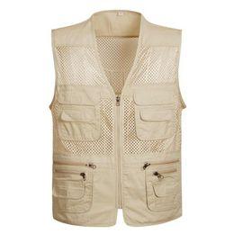 $enCountryForm.capitalKeyWord Australia - Men's Photographer Vest Multi-Pockets Cheap Vests Out-door Shooting Hunt Waistcoat Vest Walking Travel plus size S-4XL