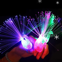 kids led ring light NZ - Glow Ring Peacock Finger Light Colorful Led Light-up Rings Luminous Toys Party Gadgets Kids Intelligent Toy For Brain Developmen