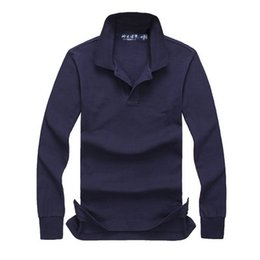 long sleeved polo shirts Canada - Free Shipping 2019 men clothes new high-quality men fashion brand clothing long-sleeved POLO shirt casual men shirts tees tops size S-XXL