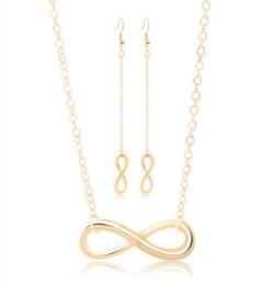 $enCountryForm.capitalKeyWord Australia - Beautiful Eight Shape Necklace Earring Sets For Women Elegant High Quality Necklaces Female Anniversary Jewelry Sets