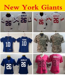 Jerseys service online shopping - Women Camo Salute to Service Ladies New York Giants nfl Eli Manning Saquon Barkley Girls Football Jersey Stitched Shirt