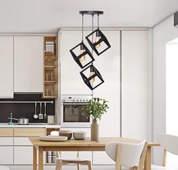 $enCountryForm.capitalKeyWord Australia - modern black cage pendant lights iron minimalist retro nordic loft pyramid lamp metal Hanging Lamp E27 Indoor