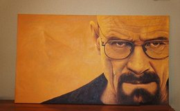 Classical Portrait Painting Australia - Framed Breaking Bad Walter White Quality Handpainted  HD Print Portrait Art Oil Painting On Canvas Wall Decor Multi Sizes Free Shipping Mv14