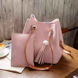 587f6514af00 Fashion Women Messenger Bags With Tote Purse Leather Bead Tassel Pendant  Ladies Shopping Travel Crossbody Shoulder Bag Fab