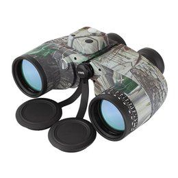 Telescope Military Australia - Top Quality Naval Military Binoculars 10x50 HD Professional Binoculars with Coordinate Measuring Night Vision Outdoor Waterproof Telescope