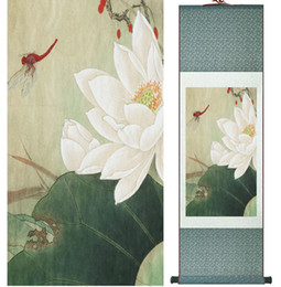lotus painting art Australia - Lotus Painting Water Lily Painting Home Decoration Painting Chinese Traditional Art Panting No.32408