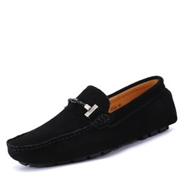 $enCountryForm.capitalKeyWord Australia - 2019 spring new boat shoes genuine leather loafer for men big size flats Rope ornamented driving shoes Suede handmade stitch flats zy362