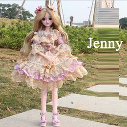 "$enCountryForm.capitalKeyWord Australia - 1 3 Doll Wedding Dress 60CM 24"" Doll toys Wedding Dress Top Quality 22 Joint Ball Joint Doll Fashion Girl Gift"