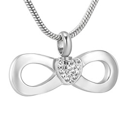 $enCountryForm.capitalKeyWord Australia - IJD11533 Infinite Heart Infinity Love Cremation Urn Jewelry Pendant Ash Necklace,Cheap Cremation Jewelry for Ashes or Memorial