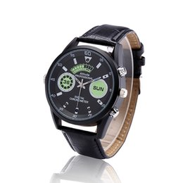 $enCountryForm.capitalKeyWord NZ - Newest HD 1080P Infared Night Vision Watch mini Camera 8GB 16GB Leather Watch voice Video Recorder support motion detection