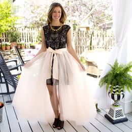 $enCountryForm.capitalKeyWord Australia - Exquisite Tulle Long Women Skirts With Bow Sash Puffy Maxi Skirts Custom Made Tutu Evening Party Maxi Cheap