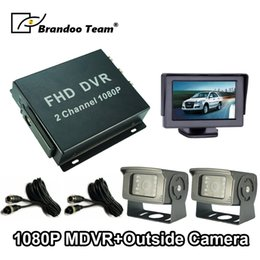 $enCountryForm.capitalKeyWord Australia - 2CH Mobile DVR Mini Bus Vehicle DVR Video Recorder with 2pcs camera + cable + monitor car
