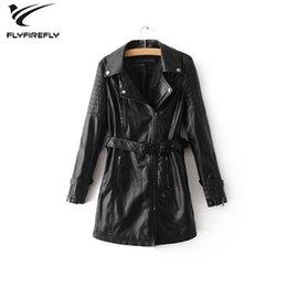 $enCountryForm.capitalKeyWord Australia - 2019 autumn black pu leather jacket women leather jacket long motorcycle coat korean streetwaer zipper punk biker outwear