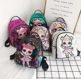 $enCountryForm.capitalKeyWord Australia - Sequin Kids Toys designer lol dolls Backpack girls cartoon storage bags Backpacks hop-pocket christmas gifts bags LOL toy