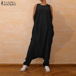 $enCountryForm.capitalKeyWord Australia - Zanzea Plus Size Summer Jumpsuits Women Sleeveless Harem Pants Female Drop Crotch Tank Playsuits Combinaison Femme Overalls 5xl Y19062201