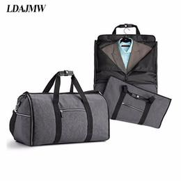 Большой емкости складной водонепроницаемый костюм дорожная сумка многофункциональный сумка одежда сумка для хранения мужская рубашка костюм организатор на Распродаже