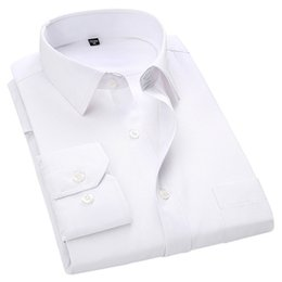 $enCountryForm.capitalKeyWord Australia - 4xl 5xl 6xl 7xl 8xl Large Size Men's Business Casual Long Sleeved Shirt White Blue Black Smart Male Social Dress Shirt Plus SH190719