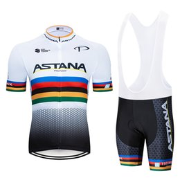 Cycling Short White Black Australia - 2018 White ASTANA Cycling Clothing Bike jersey Quick Dry Mens Bicycle clothing summer team Cycling Jersey gel bike shorts set
