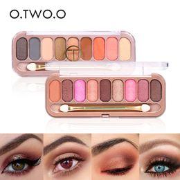 $enCountryForm.capitalKeyWord NZ - O.TWO.O 9 Colors Eyeshadow Palette Easywear Waterproof Shimmer Glitter Eye Shadow Makeup Pallete Waterproof Eyes Pigment Make Up