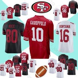 19387ae6eae 49er jerseys 10 Jimmy Garoppolo 80 Jerry Rice 16 Joe Montana 56 Reuben  Foster 25 Richard Sherman men jersey