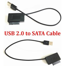 sata dvd adapter Canada - Generation lll For Laptop CD-ROM DVD With LED 2.5 HDD USB 2.0 to SATA Cable Converter External Hard Disk Drive Adapter HDD Caddy
